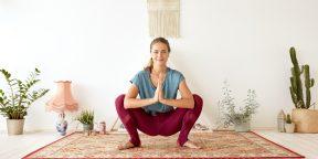 Тренировка дня: 10 минут йоги для красивых ягодиц и подвижных бёдер