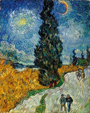 Постимпрессионизм: Винсент Ван Гог, «Дорога с кипарисом и звездой»