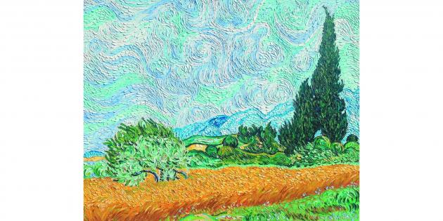 Постимпрессионизм: Винсент Ван Гог, «Пшеничное поле с кипарисом»