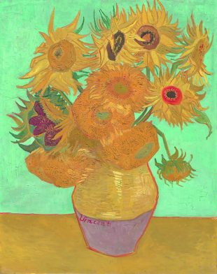 Постимпрессионизм: Винсент Ван Гог, «Ваза с 12подсолнухами»