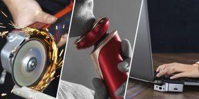 Всё для мужика: лазерный уровень Deko, лампа-прищепка, угловая шлифмашина