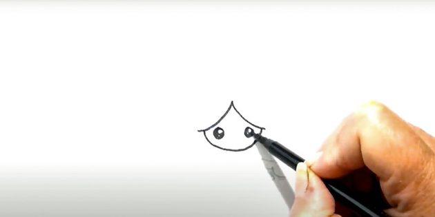 Как нарисовать ангела: добавьте глазки
