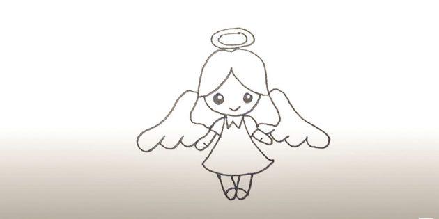 Как нарисовать ангела маркером
