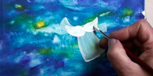 Как нарисовать ангела: нарисуйте крылья