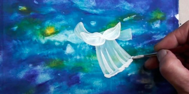 Как нарисовать ангела: украсьте платье
