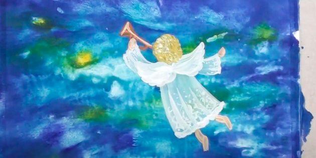 Как нарисовать ангела: добавьте руки и ноги