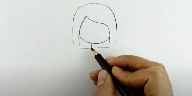 Как рисовать ангела: добавьте подбородок и шею