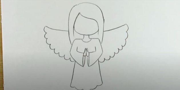 Как рисовать ангела: изобразите крылья