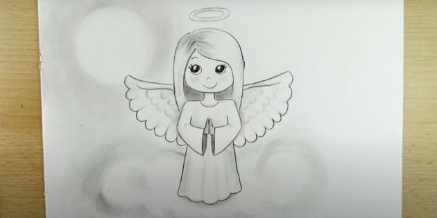 Как рисовать ангела: добавьте облачко