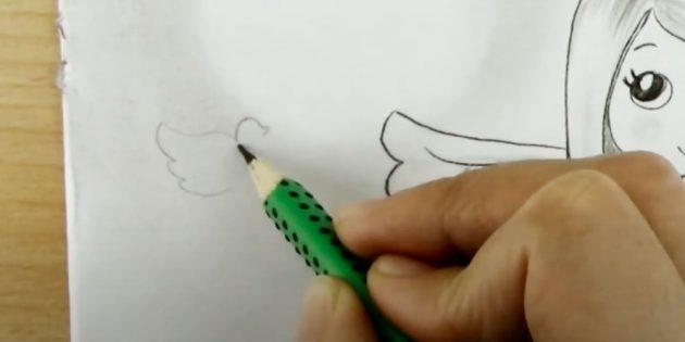 Как рисовать ангела: начните рисовать голубя