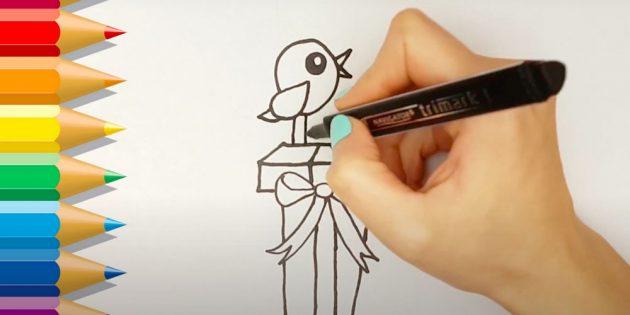 Нарисуйте птицу