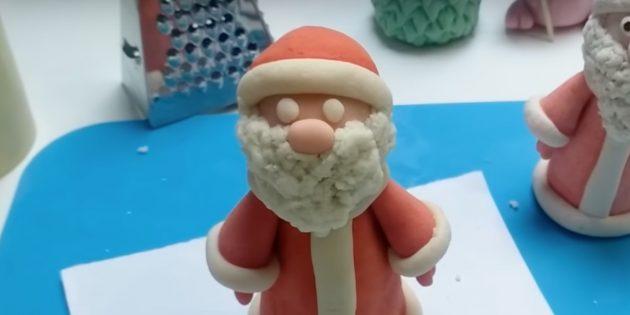 Как сделать Деда Мороза своими руками: сделайте глаза