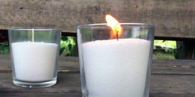 Свеча из насыпного стеарина своими руками