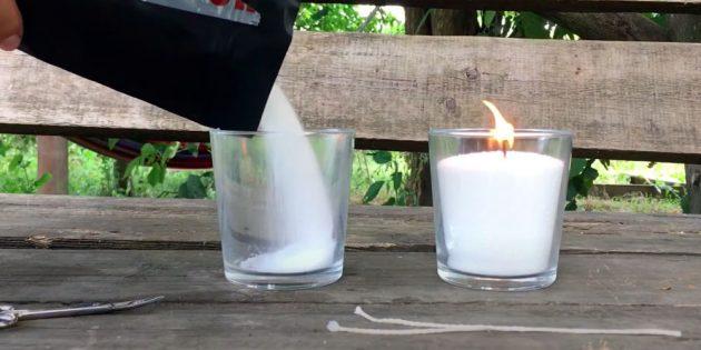 Как сделать свечу: насыпьте стеарин