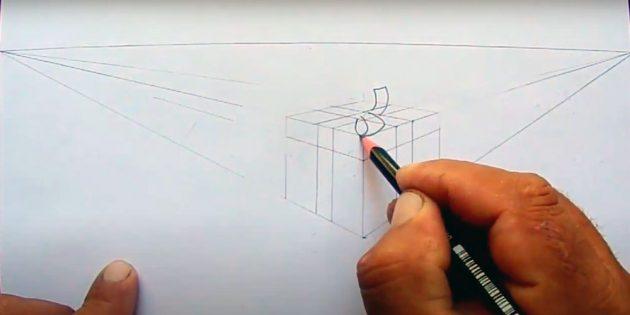 Как нарисовать подарки: Начните рисовать бант