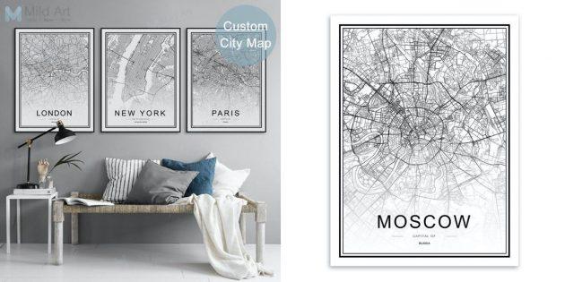 товары с AliExpress: карты городов
