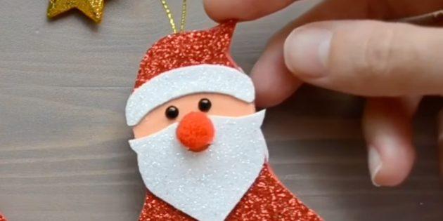 Как сделать Деда Мороза своими руками: приклейте нос