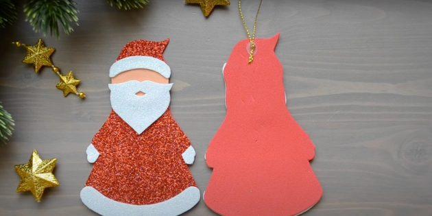 Как сделать Деда Мороза своими руками: приклейте декоративный шнур