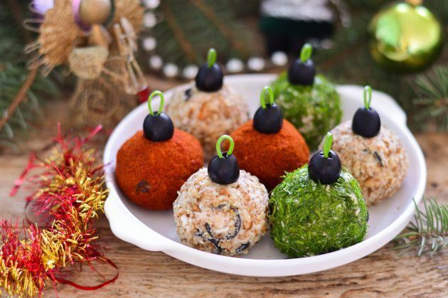 Новогодняя закуска «Ёлочные шары»