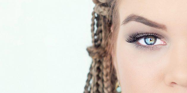 Модный макияж: роскошные естественные ресницы