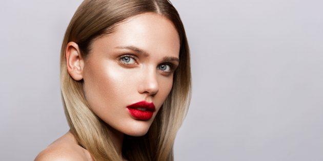 Модный макияж — 2021: классическая красная помада