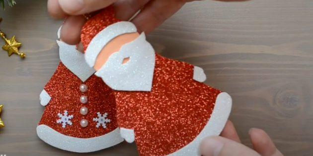 Как сделать Деда Мороза своими руками: склейте заготовки