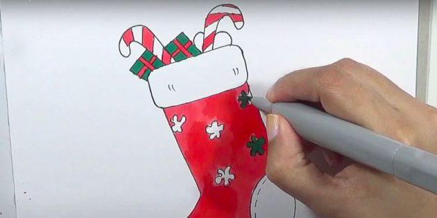 Как нарисовать подарки: Раскрасьте подарки