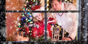 Как украсить окна к Новому году: 15 идей для вдохновения
