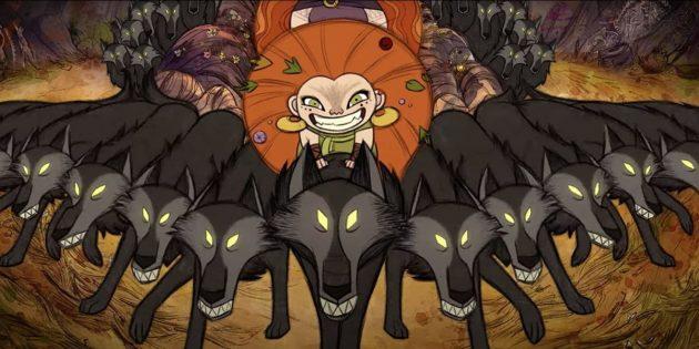 Кадр из мультфильма «Легенда о волках»