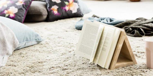 Полезные вещи своими руками: деревянный держатель страниц и подставка для книг — два в одном