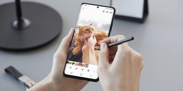 Новые смартфоны: Samsung Galaxy S21Ultra