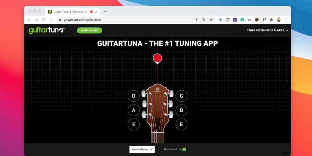 Тюнеры для гитары онлайн: GuitarTuna