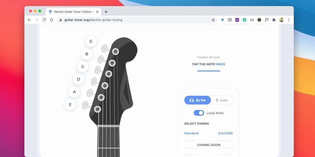 Тюнеры для гитары онлайн: Guitar-Tuner