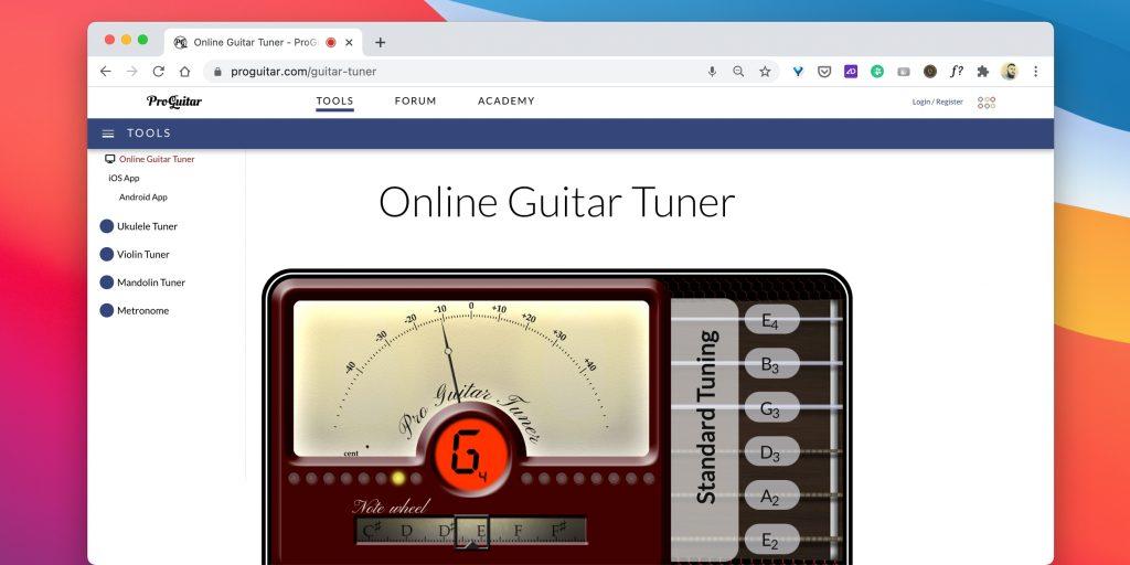 Тюнеры для гитары онлайн: Online Guitar Tuner