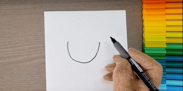 Как нарисовать ребёнка: нарисуйте дугу