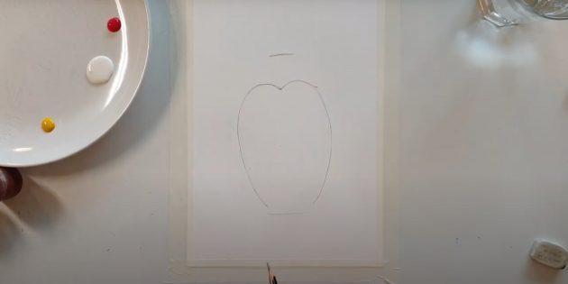 Как нарисовать ёжика: нарисуйте живот ёжика
