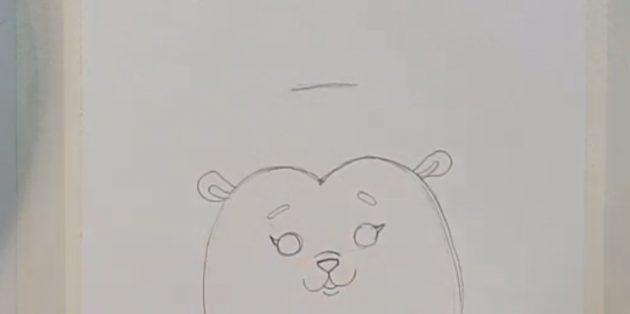 Как нарисовать ёжика: нарисуйте уши