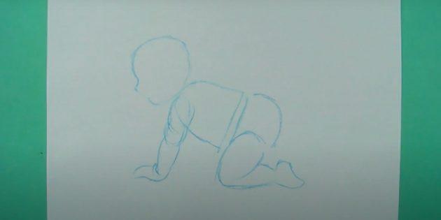 Нарисуйте ногу