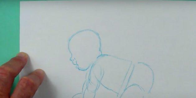 Как нарисовать ребёнка: детализируйте черты лица