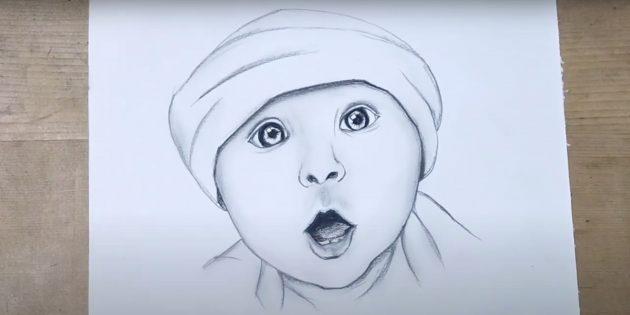 Реалистичный портрет ребёнка