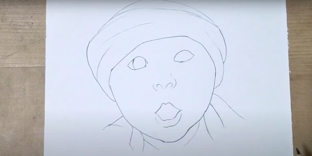Как нарисовать ребёнка: проработайте шапку
