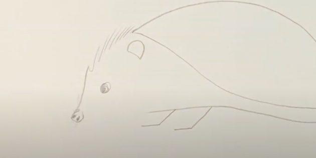 Как рисовать ёжика: нарисуйте шерсть