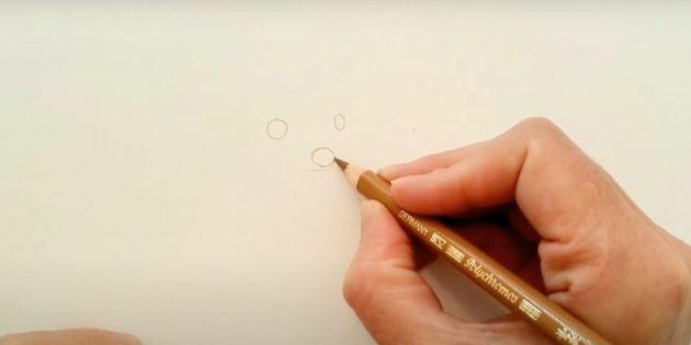 Нарисуйте глаза и нос