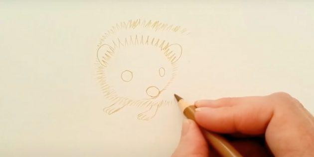 Нарисуйте лапы