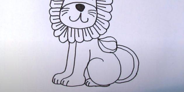 Как нарисовать льва: Нарисуйте ступню