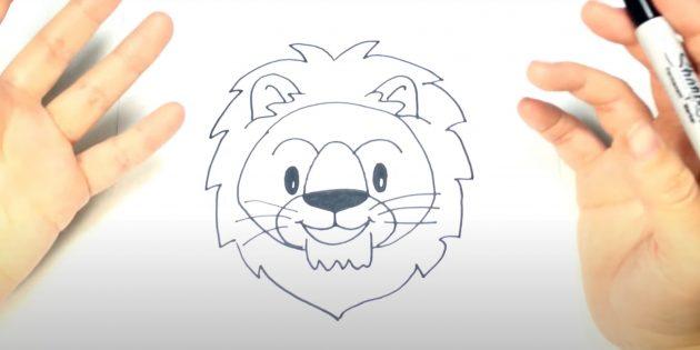 Мультяшная морда льва