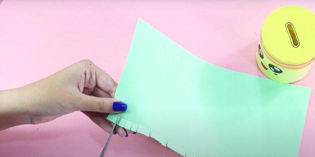 Как сделать копилку своими руками: сделайте засечки
