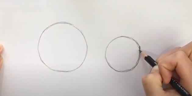 Как нарисовать льва: Нарисуйте второй круг