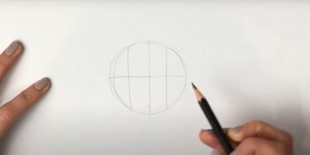 Как нарисовать льва: Нарисуйте круг