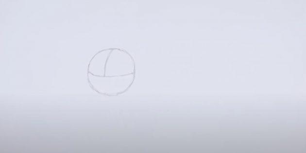 Как нарисовать льва: Наметьте голову